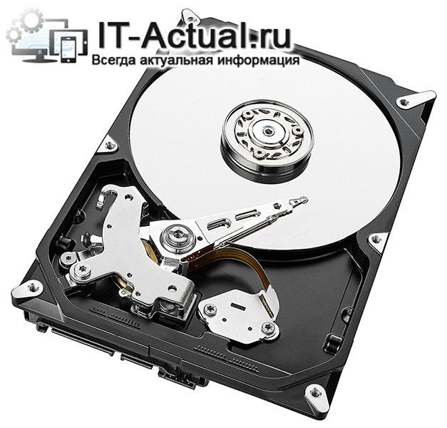 Типовое устройство жёсткого диска компьютера