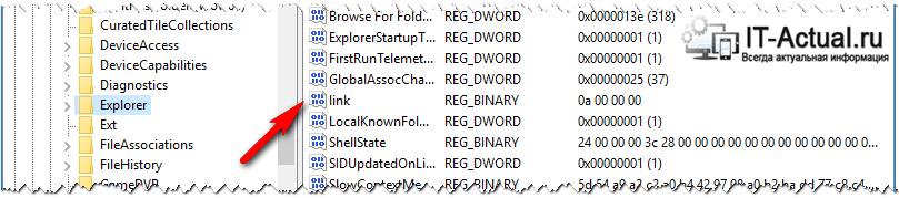 Параметр реестра, который нужно отредактировать