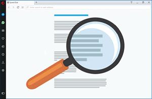 Как увеличить текст в браузере Opera