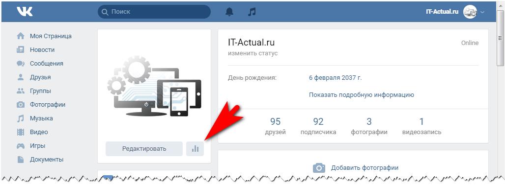 Как посмотреть статистику страницы ВК – инструкция
