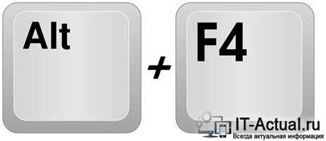 Комбинация клавиш Alt + F4