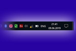 Как скрыть некоторые значки, что находятся у часов в Windows