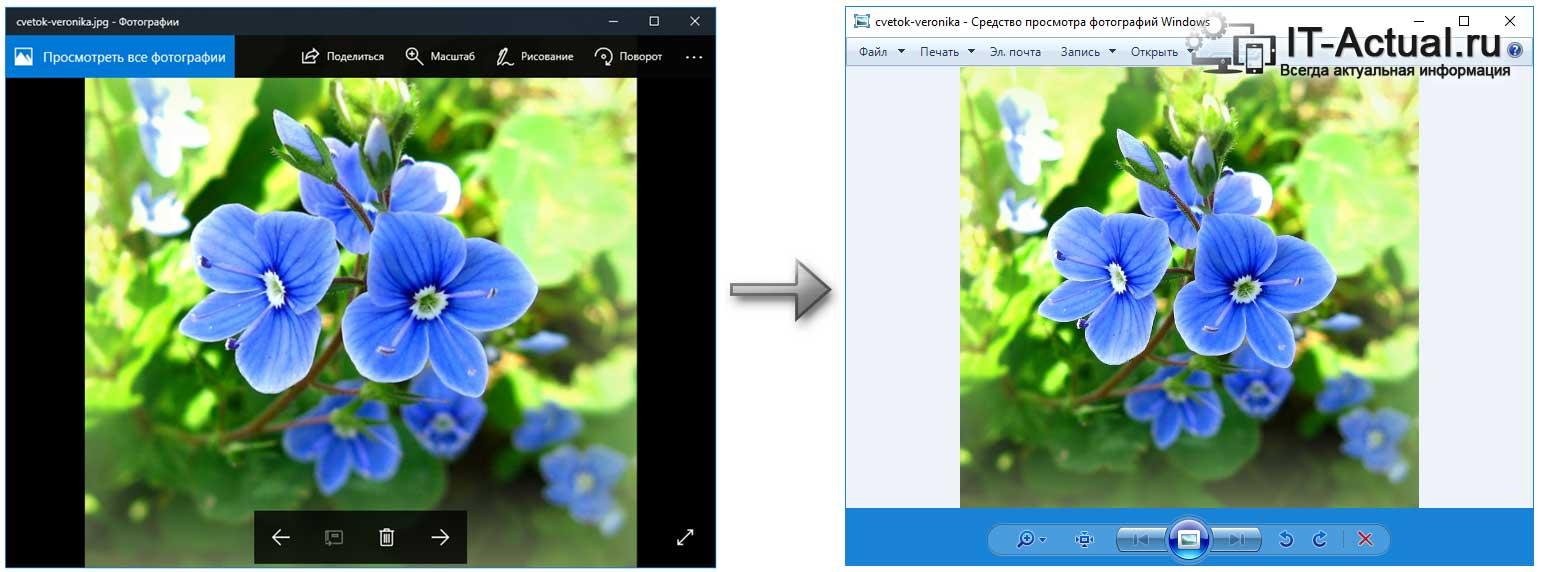 Штатная утилита просмотра графических файлов в Windows 10, и в предыдущих версиях Windows