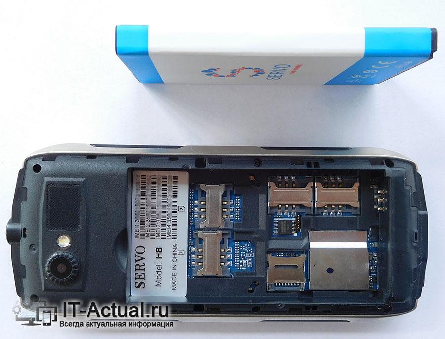 Телефон Servo H8 – поддержка четырёх СИМ карт