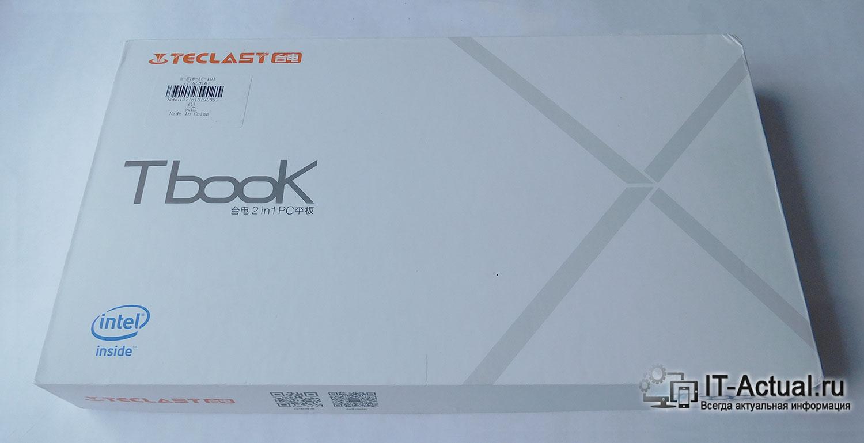 Упаковка планшета Teclast Tbook 11